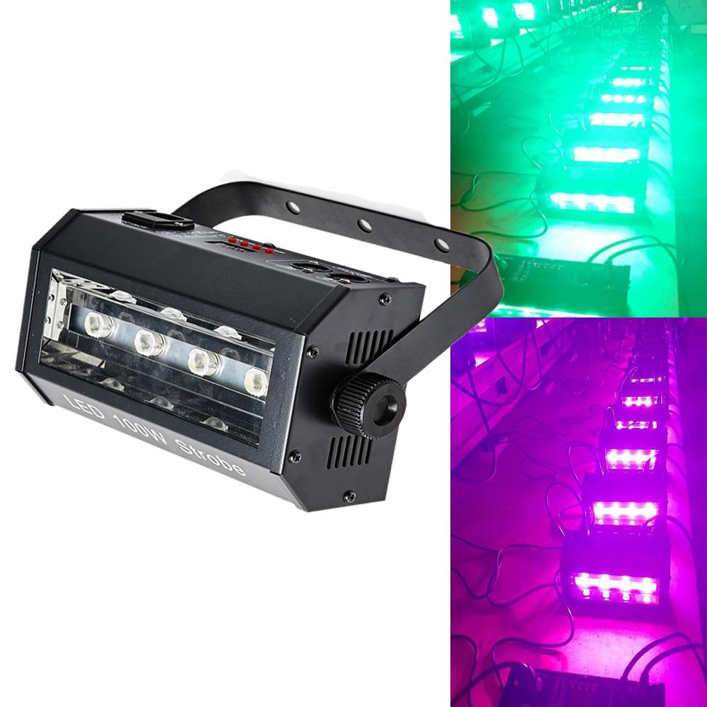 LED 100W DMX 512 RGB stroboscope disco lights professional stage music equipment dj flash white light Stage Lighting Effect     - title=