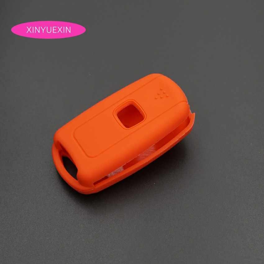 Xinyuexin силиконовый чехол для ключа автомобиля для Honda Accord CRV CIVI Crosstour Flip Remote 3 кнопки ключ куртка автомобиль-стиль
