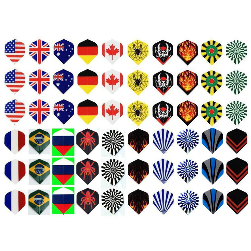 HobbyLane Smile 60pcs 2D Cool Standard Darts Flying Nice Darts Flying Outdoor Wings Mixed Mode Dart Accessories Hot Sale in Darts from Sports Entertainment