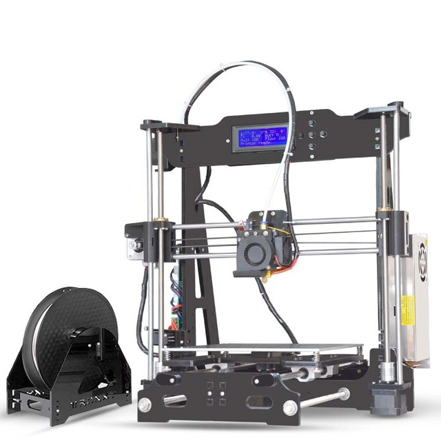 US $159 8 32% OFF Hot Sale Tronxy P802E 3D Printer DIY kits Bowden Extruder  MK3 heatbed 3D Printing PLA ABS supports Auto leveling optional 8GB SD-in