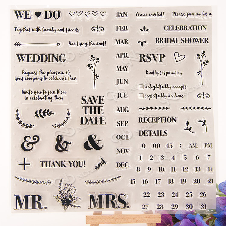 1 Sheet The date Transparent Clear Silicone Stamps for DIY Scrapbooking/Card Making/Kids Fun Decoration Supplies Flower