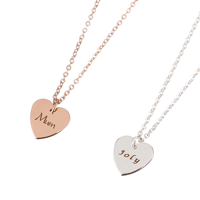 Personalized heart necklaces customizable slide initial pendant personalized heart necklaces customizable slide initial pendant cursive script engraved name necklace women jewelry mum gift aloadofball Image collections