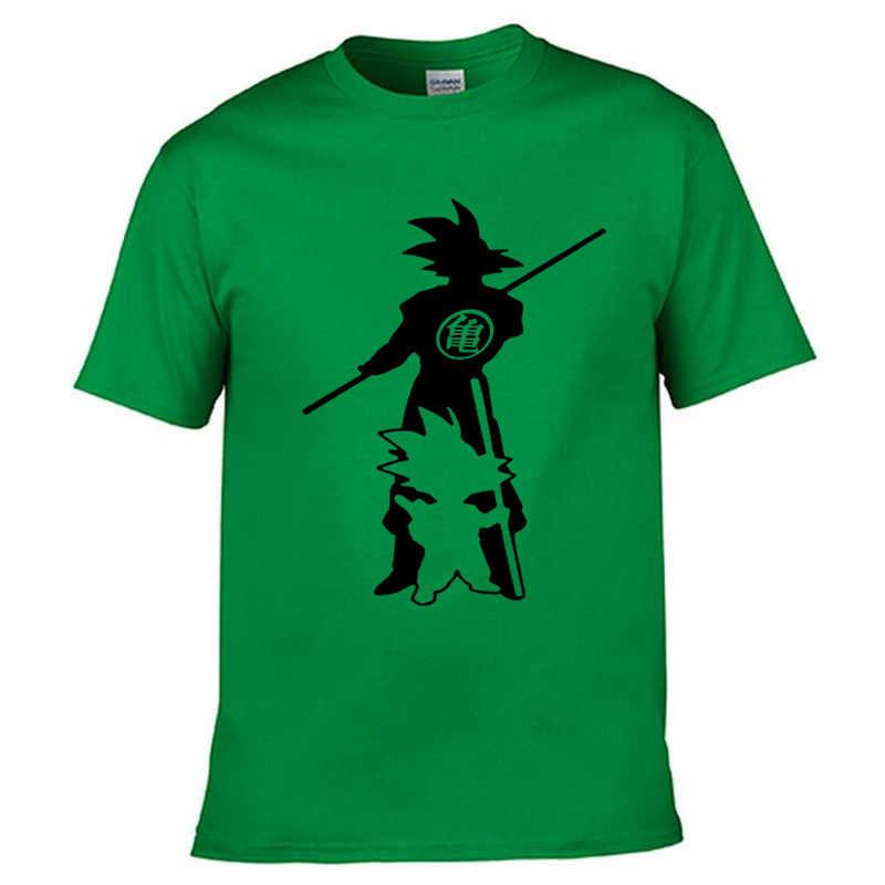 Новое поступление Япония аниме Dragon Ball Z футболка Супер Saiyan мужские Сон Гоку мужские футболки одежда хлопок Футболка