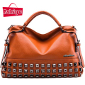 BVLRIGA Women bag Ladies women messenger bags handbags women famous brands big shoulder bag rivet Dollar prices fashion bolsos