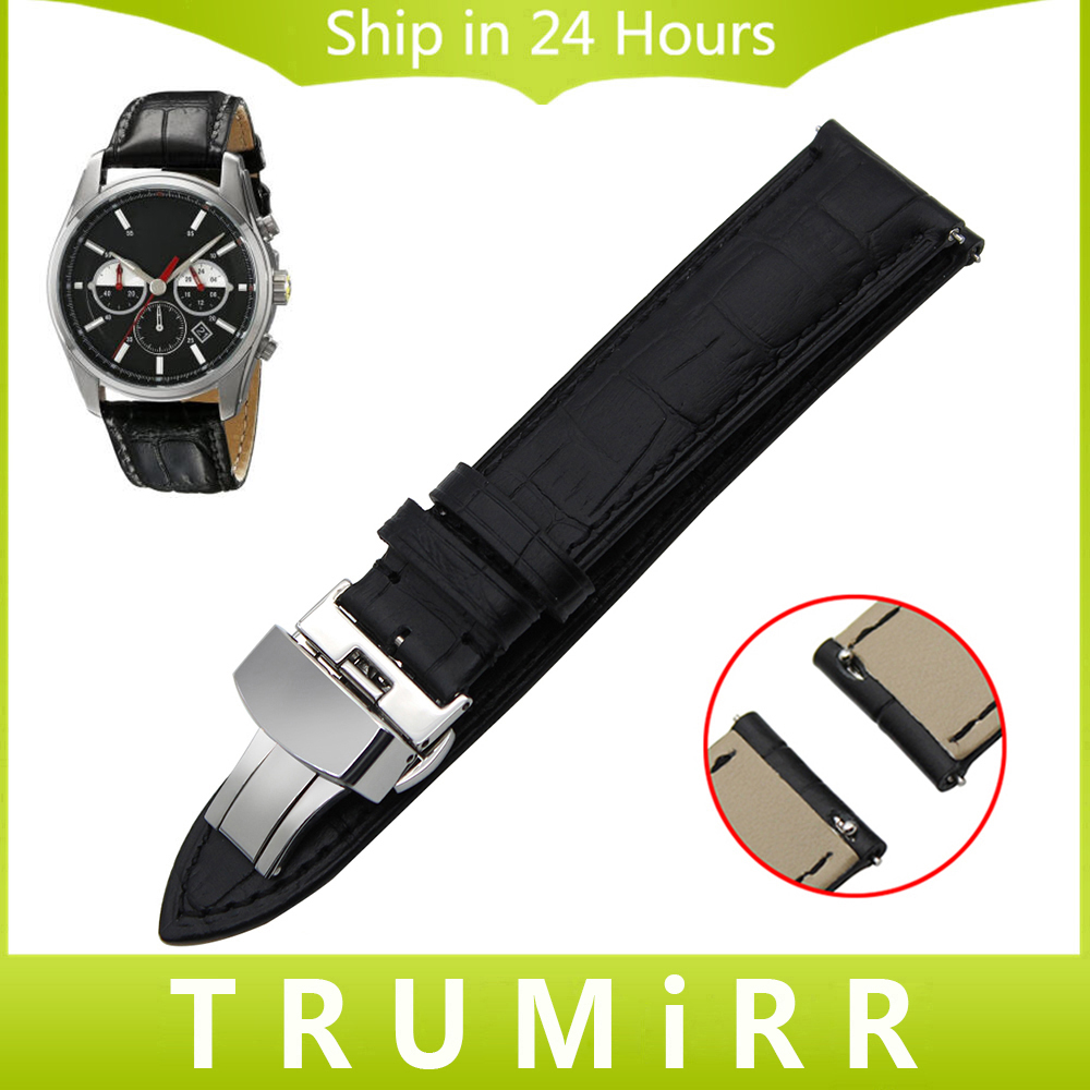 22mm Quick Release Watchband for Ferrari Calf Genuine Leather Watch Band Butterfly Buckle Strap Wrist Belt Bracelet Black Brown кардиган golden state of mine