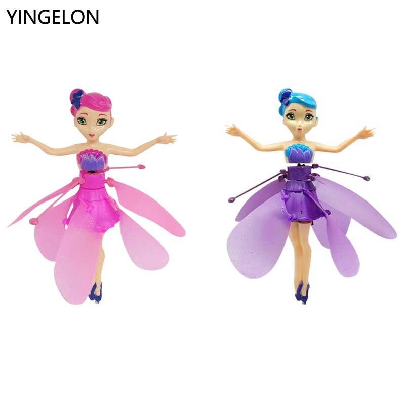 Fairy Doll Children's New Flower Fairy Cartoon Inductive Flying Machine Strange Gesture Sensing Flitter Dolls For Kids Xmas Gift