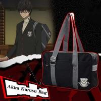 Anime Persona 5 Akira Kurusu / Ren Amamiya Cosplay Bag Japanese High School Canvas Handbag Casual Shoulder Bag