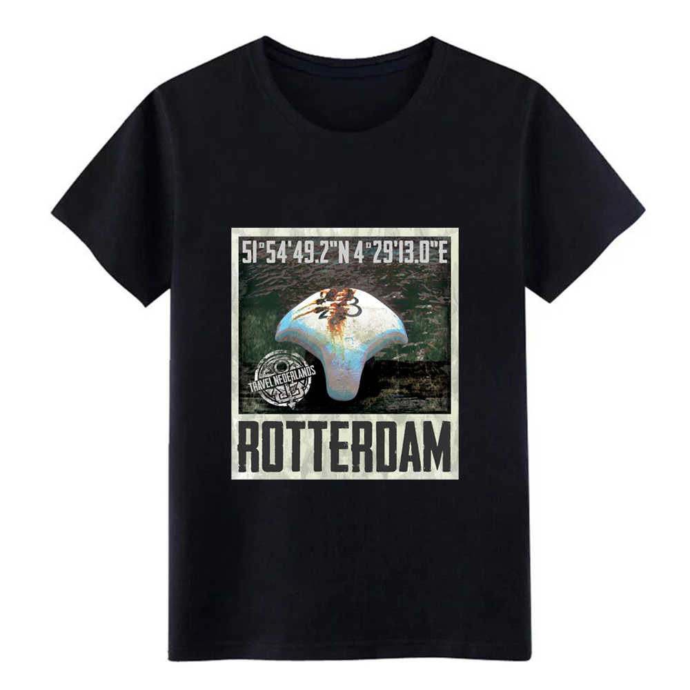 rotterdam travel t shirt men printed cotton Round Collar Family Gift Comical Spring Autumn Leisure tshirt