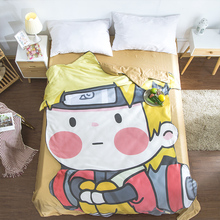 Cartoon Uzumaki Naruto Summer Cool blanket air conditioning comforter children Adult Anime Alien