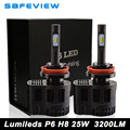 1 pair Car led Lamp H8 H9 H11 25W 3200LM 5000K 6000K LED Headlight Bulb for Luxeon ZES Chip
