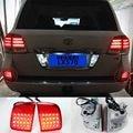 Задний Бампер Противотуманные фары в Сборе для lexus LX570 2008-2011 Toyota LAND CRUISER LC200 FJ200 5700 4700 2008-2015