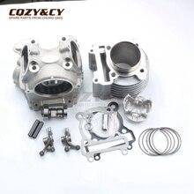 Kit de cilindro y cabezal de gran cilindro de carreras, 63mm/15mm, 181cc, para YAMAHA BWS ZUMA 125 YW125 CYGNUS X 4V