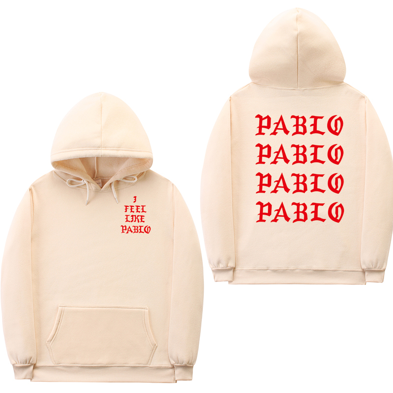 Fashion Off White Sweatshirts Men Funny Letter Hoodies I Feel Like Pablo Hoodie Sweatshirt Hip Hop Pullover Hoody Sweatshirt
