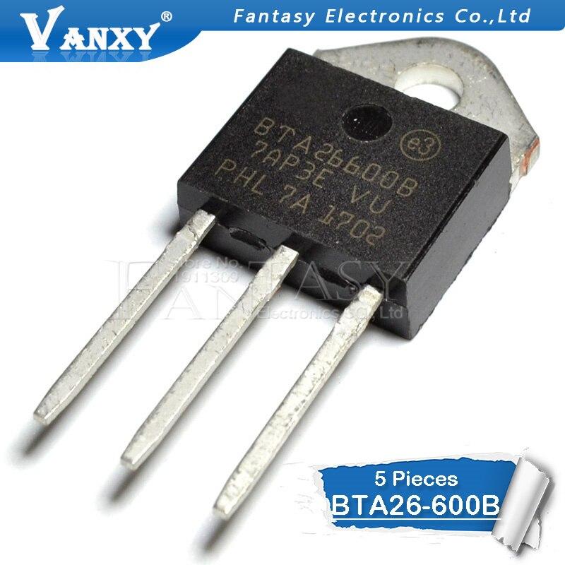 5 قطعة BTA26 600B TO 3P BTA26600B TO3P BTA26 600 جديدة ومبتكرة IC    -