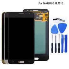 AMOLED do Samsung Galaxy J3 2016 J320 J320FN wyświetlacz LCD ekran dotykowy wymiana Digitizer zgromadzenie Panel dotykowy części telefonu