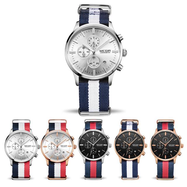 Mens Canvas Strap Wristwatch
