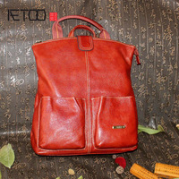AETOO Shoulder bag 2017 new women leather shoulder bag travel bag 100% genuine leather backpack multi purpose bags