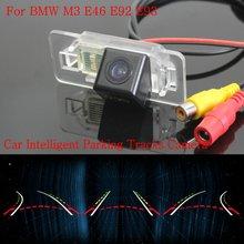 Автомобиль Интеллектуальные Парковка Треки Камеры ДЛЯ BMW M3 E46 E92 E93/резервное копирование Камера Заднего Вида/Камера Заднего вида/HD CCD