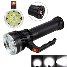 9X XM-L T6 LED Flashlight 30000 Lumens Tactical Powerful 3 Modes Camping Hunting Torch With 18650 Rechargeable Battery+Charger
