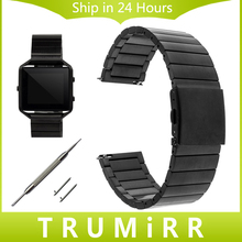 23mm Quick Release Watchband for Fitbit Blaze Smart Fitness Watch Band Stainless Steel Strap Bracelet Black
