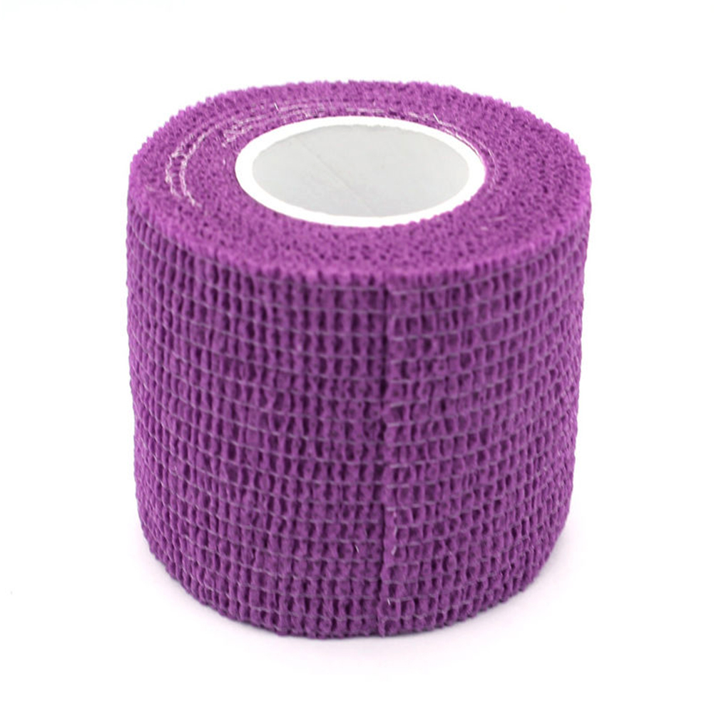 1 Pc 5*450cm Colorful Self Adherent Wrap  Tape Self Adhering Stick Bandage Self Grip Roll For Tattoo Bandage 6 Colors