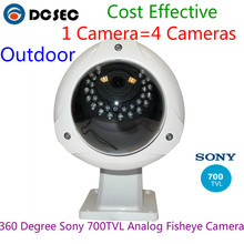 Super Panorama Fisheye Camera 700TVL Sony Effio CCD 360 Degree wide angle outdoor water-proof IP66 analog dome camera(China)