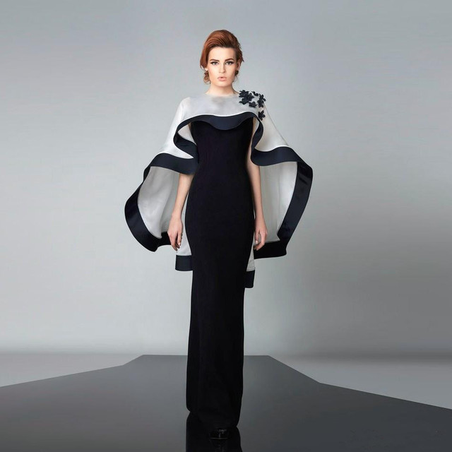 Designer Sexy Blumen Applique Meerjungfrau Abendkleider Mit Jacke ...