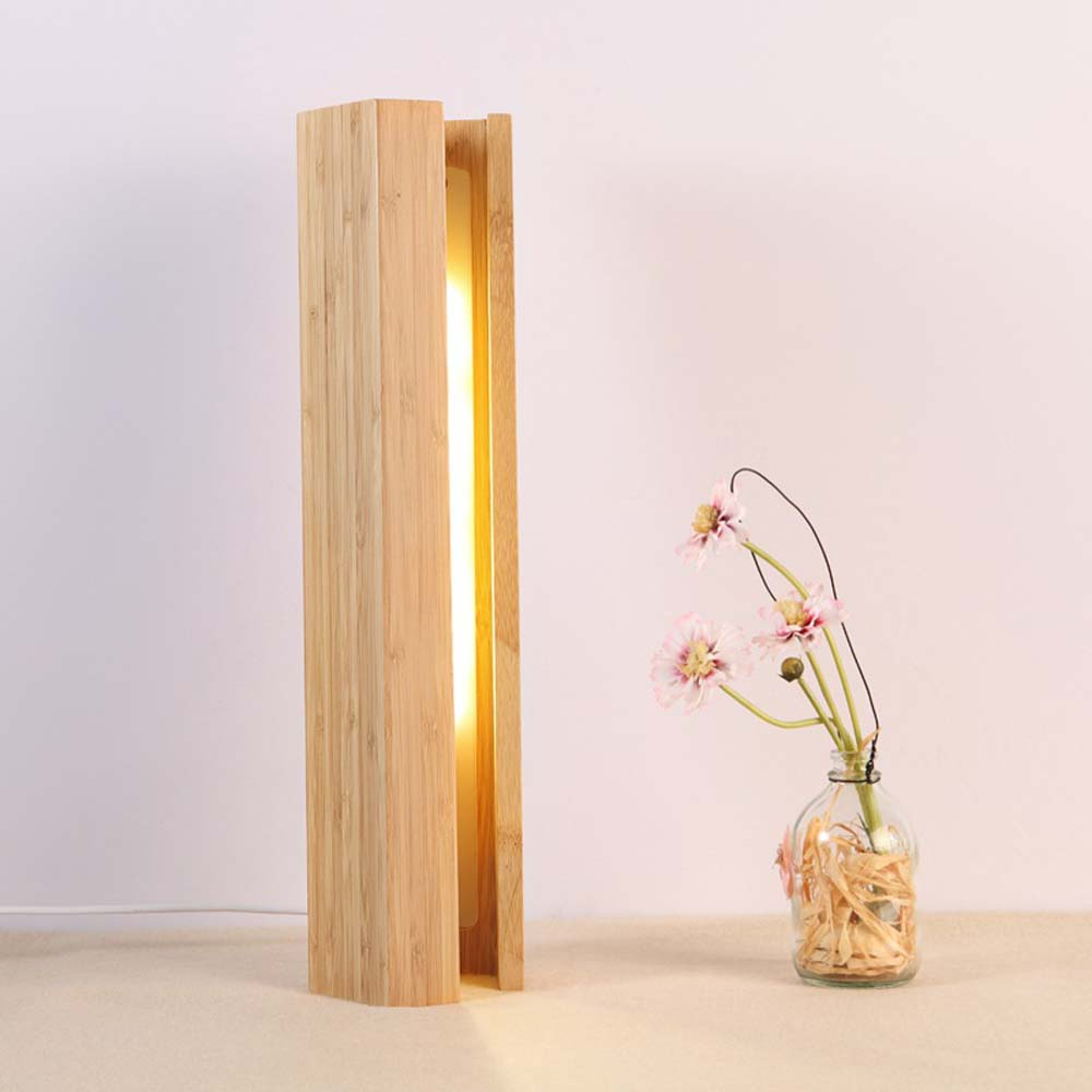 Nordic LED Wooden Lamp Modern Eye Protect Reading Dimmer