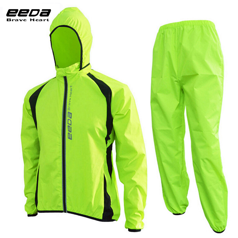 EEDABROS Handsome Bike Jacket Bicycle Pants Outdoor Cycling Raincoat Jerseys Road MTB Rainproof Cycling Rain Jackets Set Men 2016 newest rainproof santic cycling jacket multi function bicycle jerseys windproof breathable mtb bike clothing raincoat
