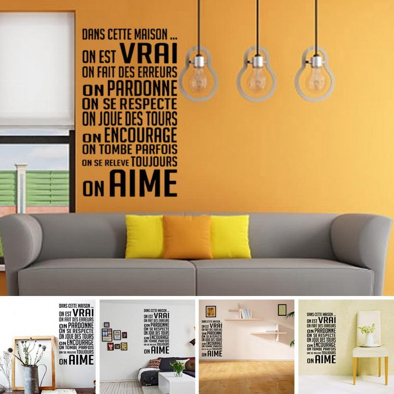Art Decor French Quote design home decorative adesivo de parede ...