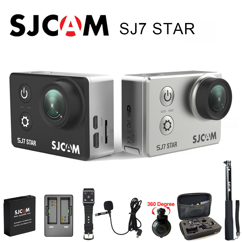 Original SJCAM SJ7 Star Sports Action Camera 4K DV Ultra HD 2.0 Touch Screen Waterproof Remote Ambarella A12S75 SJ Cam original sjcam car charger microphone remote watch monopod motorcycle waterproof case dual charger for sj sj7 star action camera