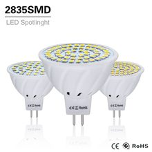 10 Uds 4W 6W 8W LED lámpara MR16 AC/DC 12V 24V Bombilla Led gu5.3 mr 16 Led proyector 220V 2835SMD iluminación LED blanco/blanco cálido()