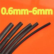 1meter 2:1 Black 0.6mm 0.8mm 1mm 1.5mm 2mm 2.5mm 3mm 3.5mm 4mm 4.5mm 5mm 6 Heat Shrink Heatshrink Tubing Tube Wire Dropshipping цена в Москве и Питере