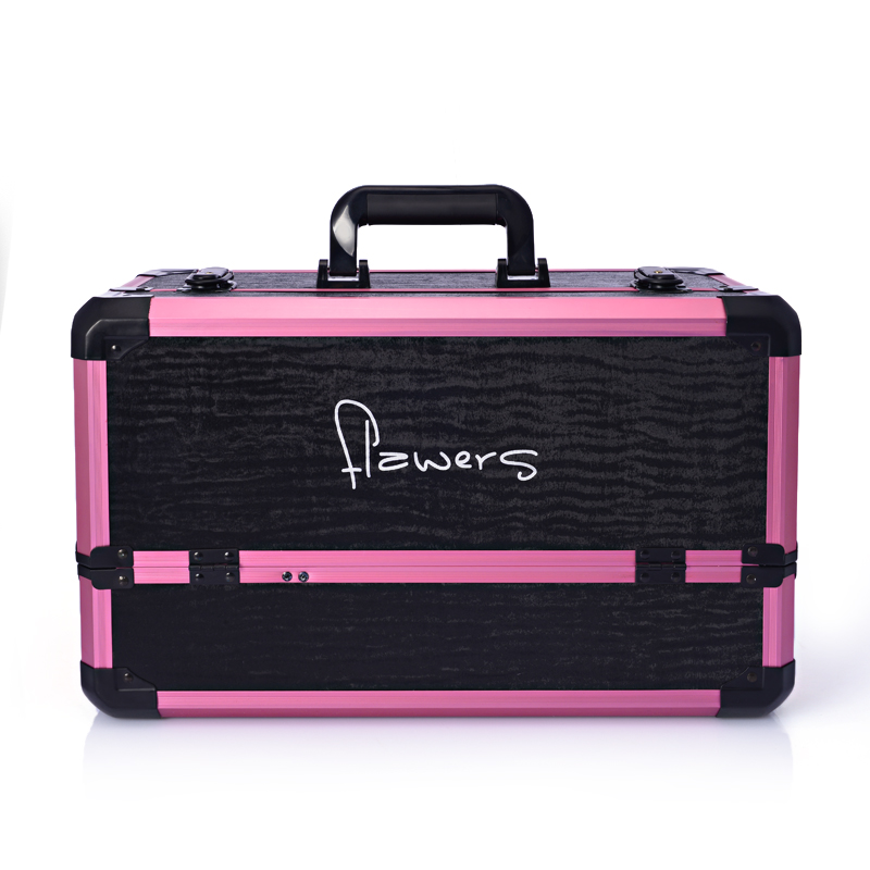 Large cosmetics box cosmetic tools multi layer storage box double open box suitcase