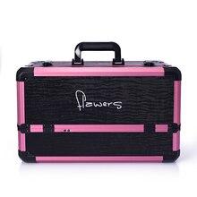 Große kosmetik box kosmetische werkzeuge mehrschicht aufbewahrungsbox doppel offenen box koffer
