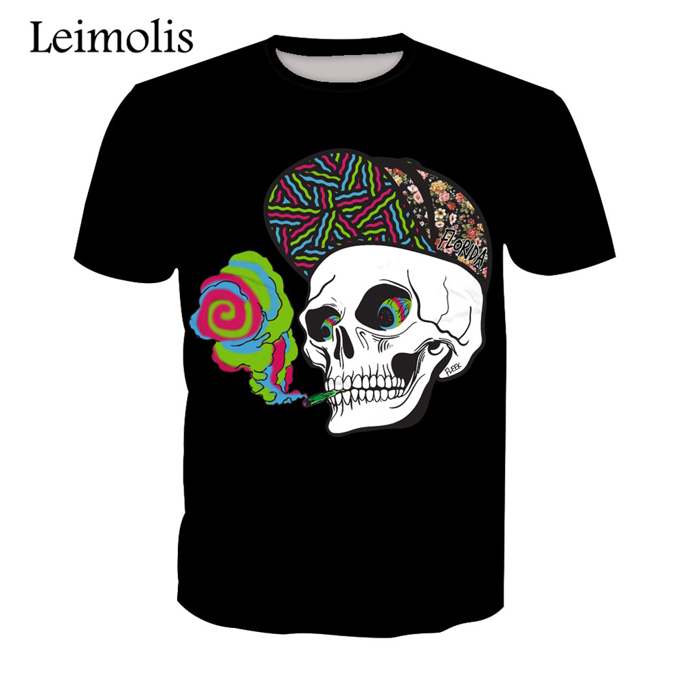 NEW /& OFFICIAL! Poison /'Smoking Skull/' T-Shirt