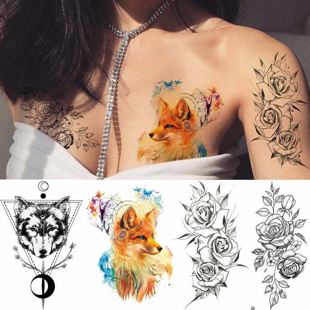Ioridyo женская мода сексуальная поддельная татуировка лиса