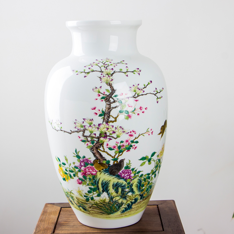 Chinese Style Fine Jingdezhen Ceramic Vase Home Decoration Living Room Porcelain Flower Vase Art Decor Vase vase