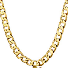 7mm Miami Cuban Chain Necklace Gold 316L Stainless Steel Men Curb Link Necklace Hippie Hip Hop Jewelry new men s hip hop necklace gold stainless steel curb cuban link chain cross pendant necklace for men jewelry 11mm 24inch dn05