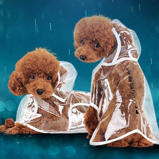 Новый Ясный Водонепроницаемый зонтик дождевик Pet Puppy Dog куртка непромокаемая одежда