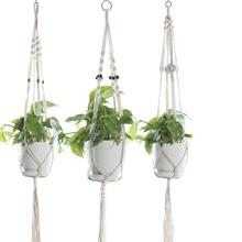 Ручная вешалка для растений acrame с длинным кашпо 41 дюймов (подходит для большого горшка до 9 дюймов) внутренний наружный Потолочный держатель для растений корзина