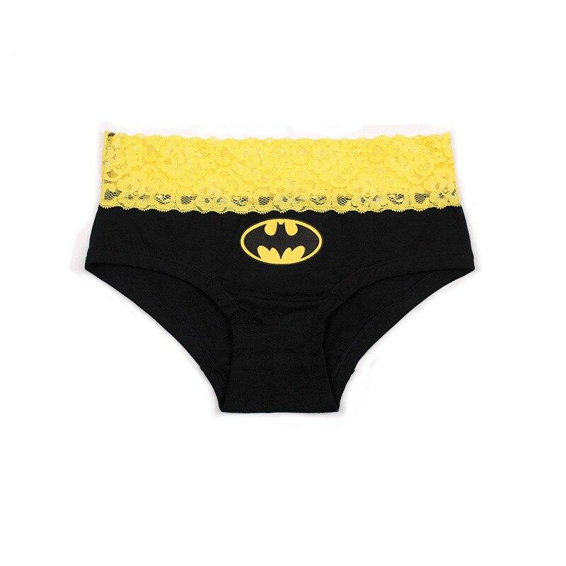 New Underware Women Briefs Hero Batman Superman Sexy Cartoon Printed Lace Cotton Panties Ropa Interior Triangle Female Lingerie