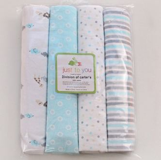 a622aef6b80d 4Pcs lot 100% cotton supersoft flannel receiving baby blanket baby ...