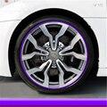 8m car chrome protection wheel Rim Grille clips, light frame decoration Collision strips for chevrolet equinox taho spark cruz