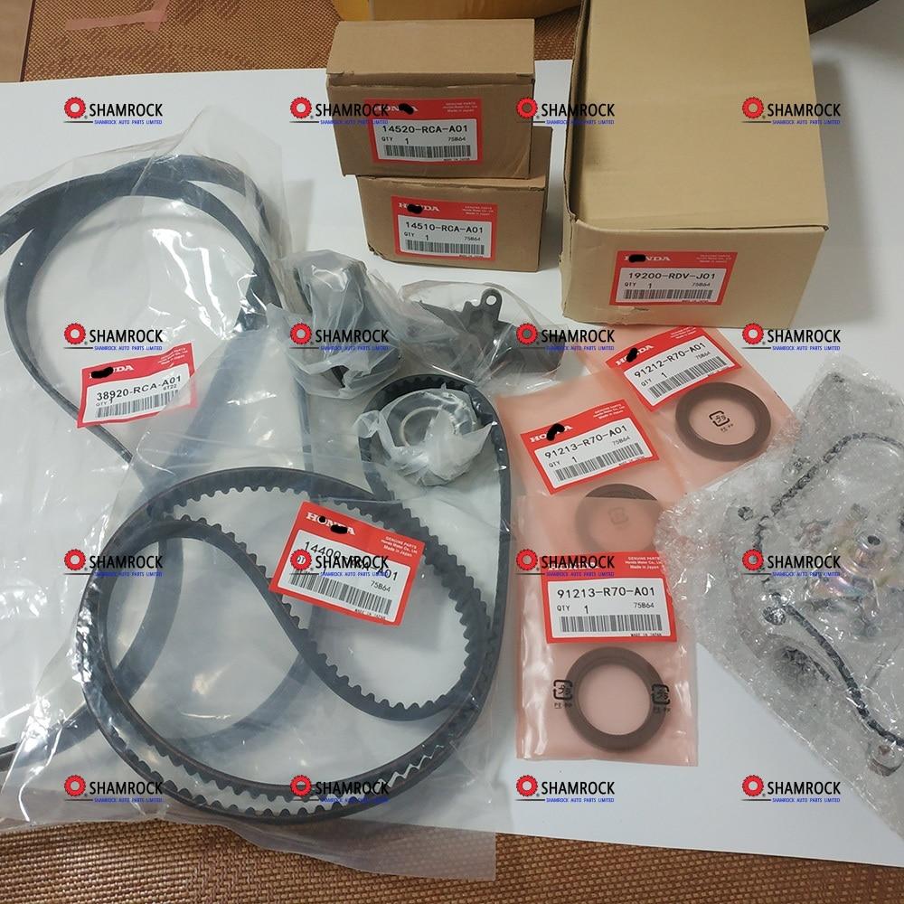 Timing Belt Water Pump Service Kit OEM 14400 RCA A01 19200 RDV J01 91213 R70 A02
