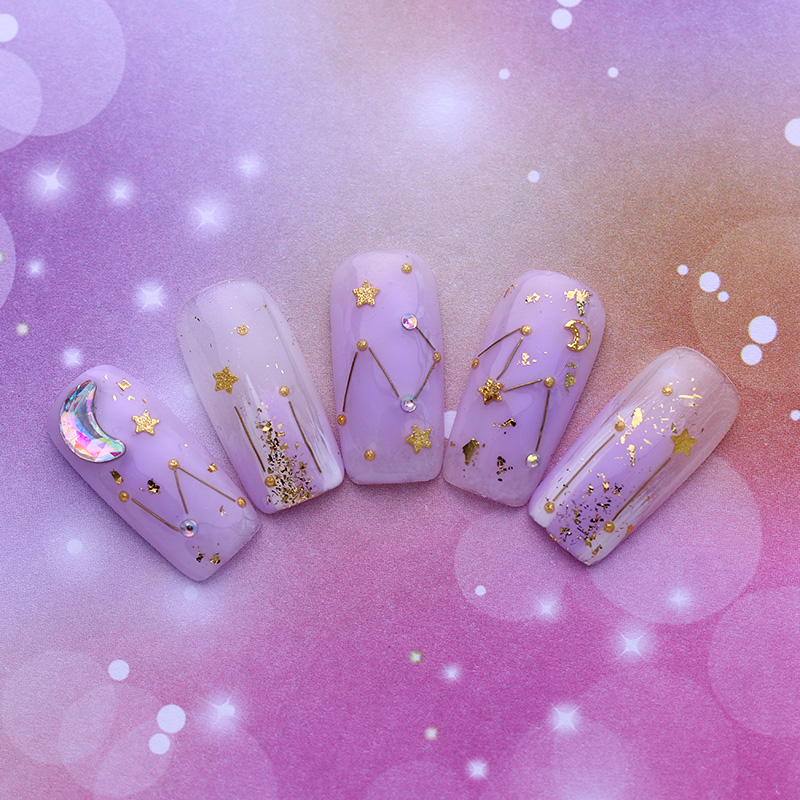 NACIDO PRETTY Nail Art UV Gel Soak Off UV Polish Charming Purple - Arte de uñas - foto 5