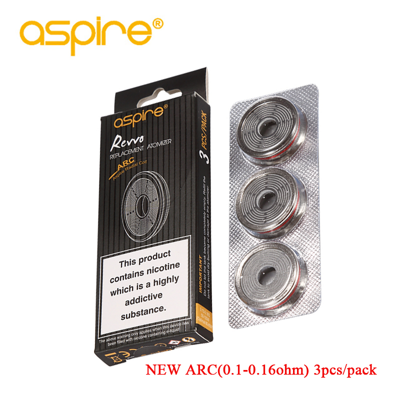 E-cigarettes Aspire ARC Coils 0.1ohm-0.16ohm Replacement Core for Electronic Cigarette Aspire Revvo Tank E Cigarette Vape Coil e cigarettes aspire bdc coil 1 6 1 8 2 1ohms replacement bottom dual coil head for aspire vaporizer 5pcs lot