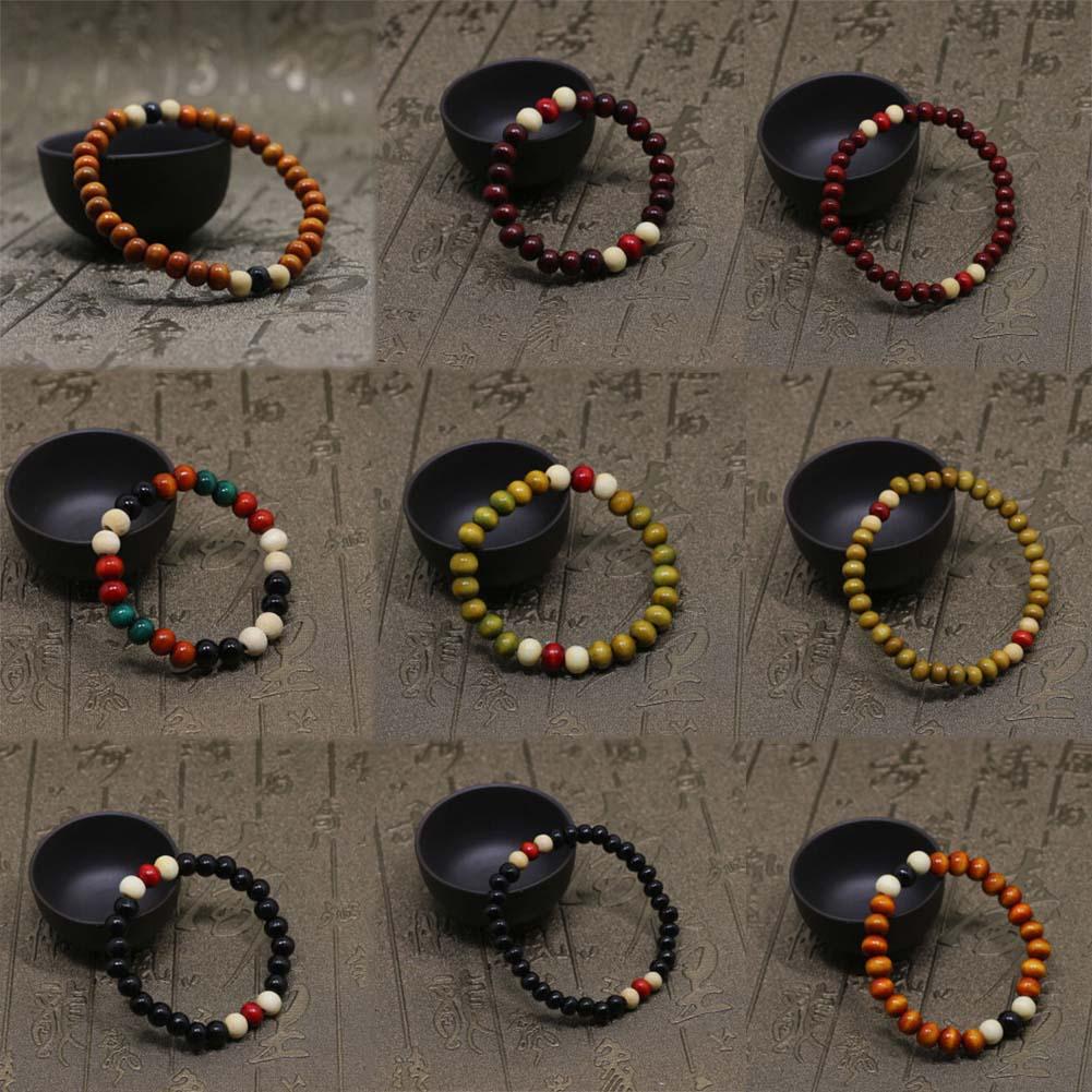 Mens Womens Chakra Healing Reiki Prayer Lava Stone Buddha Bead Bracelet Lots Style