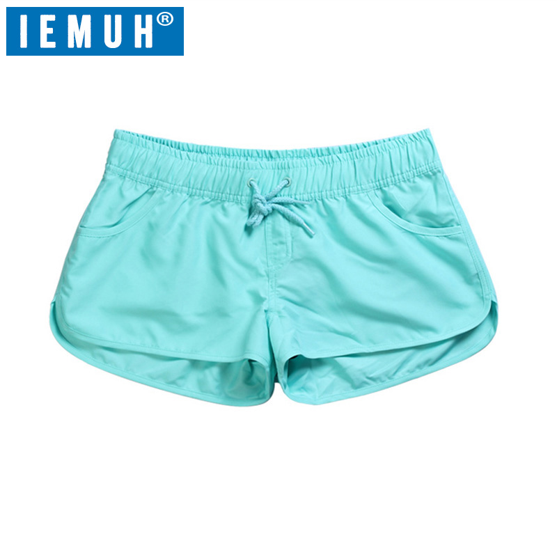 IEMUH New 2019 Summer Casual Shorts Women Fit Solid Available Shorts Loose Elastic Waist Breathable Women Fashion Shorts
