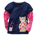 Kids Girls Clothing Tops Tees girls long sleeve t shirts cotton cartoon Children long sleeved t-shirts for children